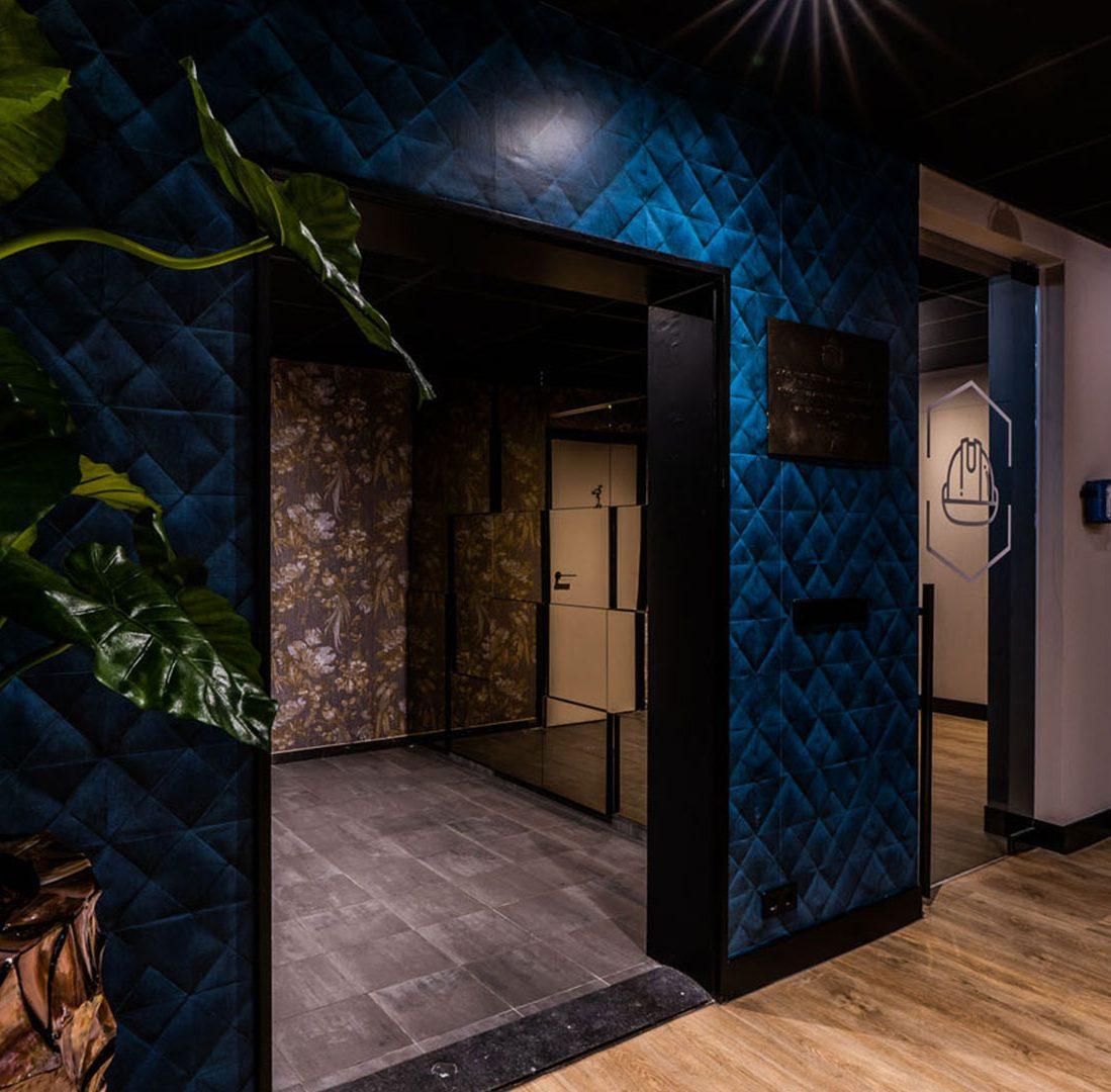 Interieur-Ontwerp_Office_BPZ_Assen_Wandbekleding_Stof_Blauw__03
